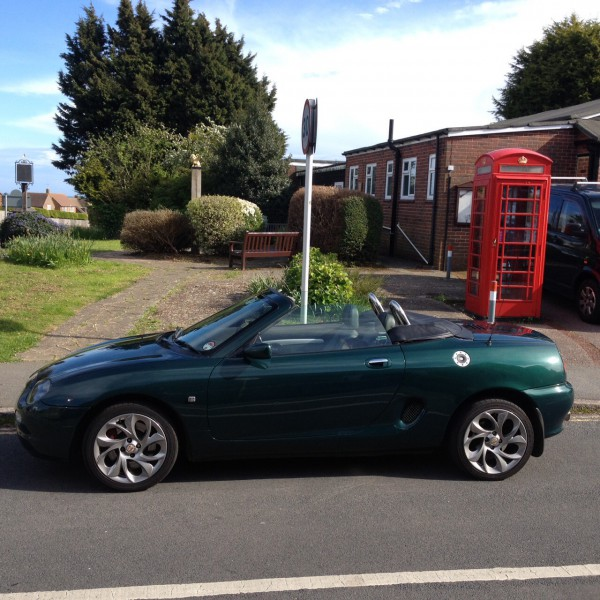 Patricks MGF is one of the earliest built and in lovely condition too.