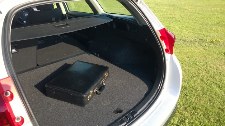 The load bay is wide and accomodating. The seat backs drop down via a clever lever that requires a single and easy one fingered pull. The boot is flat, features a sliding cover, 12v power point and a nice low sill height.