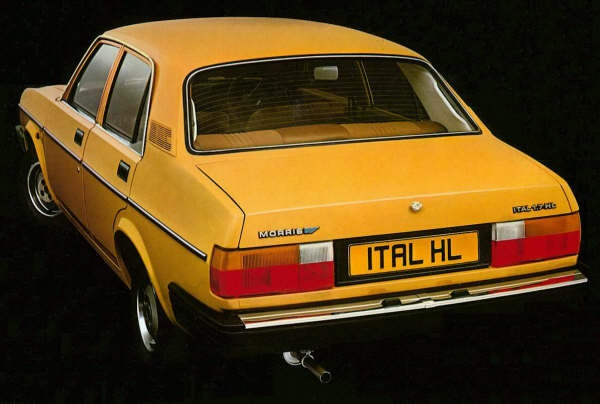 The only 100% true Brit family 4 door was the Morris Ital when the MK2 Cavalier burst onto the scene - Lovely eh?