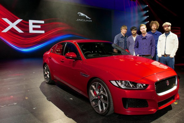 Jaguar predict a riot in the sales charts with the XE - The Kaiser Chiefs were at the launch.