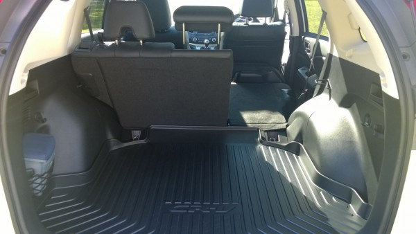 One touch fold of rear seats is well thought out and clever. Loads of space for both cargo and occupants - Its a very well engineered hold-all.