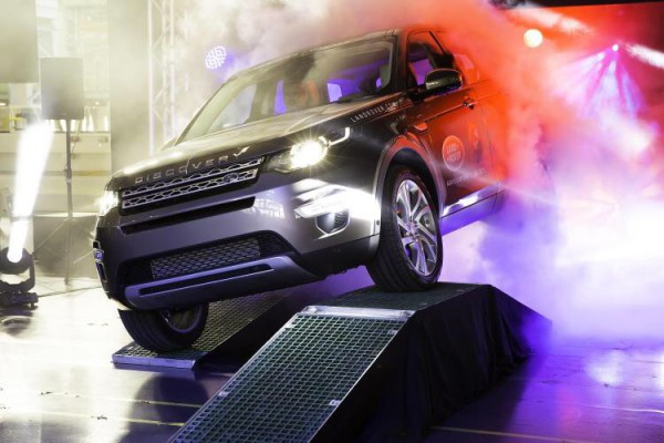 The first Land Rover Discovery Sport has rolled off the line at Halewood.