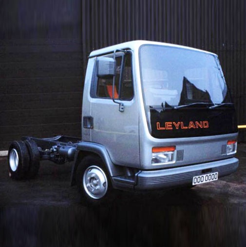 Eventually two protoypes were evaluated, this example shows the rejected vehicle put forward by Dr Tom Karen and his Letchworth based Ogle Design team who had previously styled the other Leyland T45 trucks.