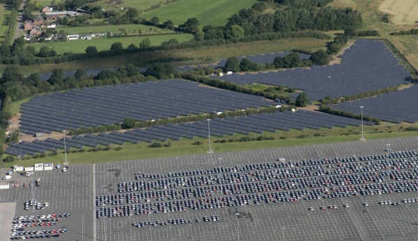 """Even the enviroment is considered. Toyota generate a healthy supply of electricity thanks to their own """"Solar Farm"""""""
