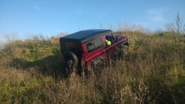Quality tyre equipment meant the 90 ran up this 1 in 4 muddy grass bank like a spring Lamb - Despite some shocking terrain the Defender refused to be beaten... but it's not for the faint hearted, its a grafting machine.