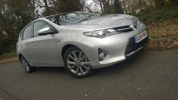 The UK built Toyota Auris Hybrid 5 door.