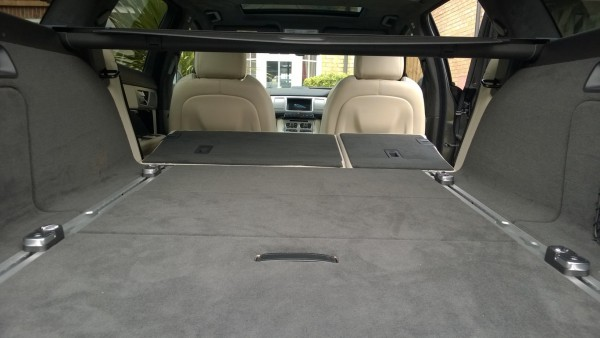 Drop the rear seats and remove the rolling parcel cover and there is almost 1700 litres of space on an almost totally flat floor.