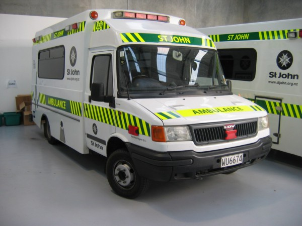 Forbidden (Flying Kiwi) Fruit? - Convoy was popular for export too, this is a New Zealand Customline Ambulance, the Police Dept used them too.