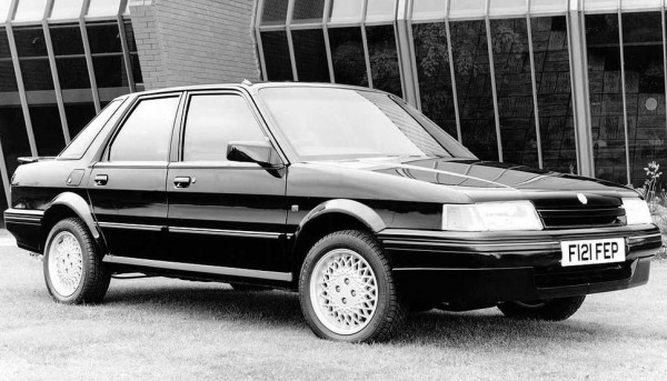A Rover Group publicity image for the 1989 model year MG Montego Turbo - It was deleted from the range soon after.