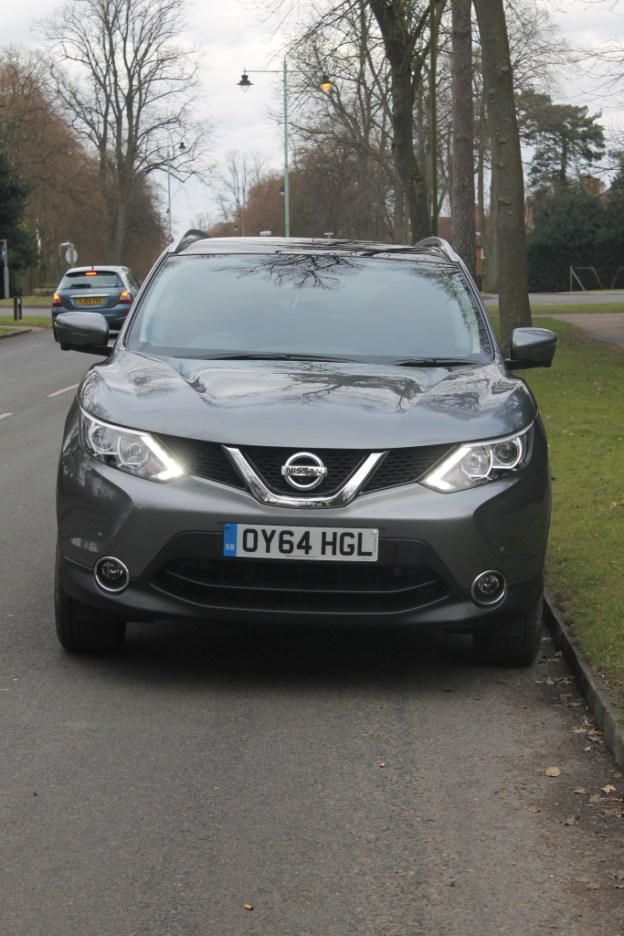 These are what Nissan calls 'LED signature daytime running lights'. I call them a common sight in the rearview mirror.