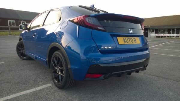 New spoiler and rear bumper - with the latter having a racy bottom splitter. Its improved the rear aspect considerably and with those glossy back rims, one or two bystanders asked if it was actually a new Type-R... if only!