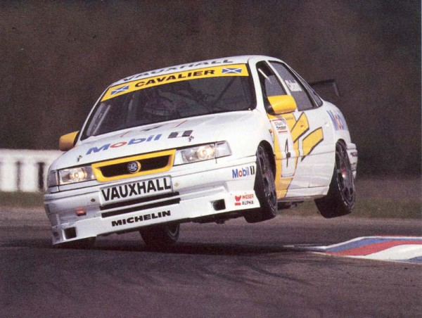 Cavalier also succeeded in BTCC. Here's Super Scot John Cleland giving it some air at Thruxton.