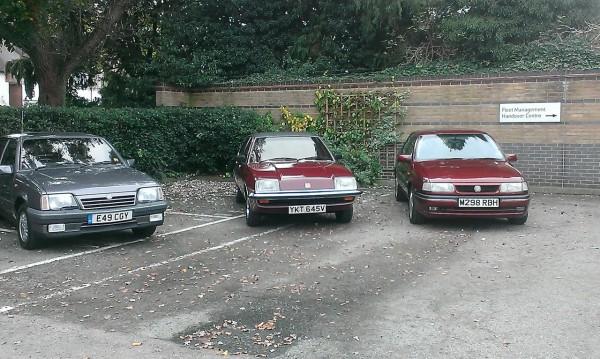 Vauxhall Motors three Cavaliers from the heritage fleet.