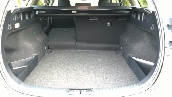 There's heaps of space for clutter but this lump in the cargo deck is a bad design boo boo for a modern estate car.