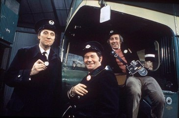 From ITV  COMEDY CLASSICS   ON THE BUSES Tuesday 9th September 2008 on ITV 1  Comedy Classics is a brand new series which raids ITV's comedy archives and celebrates some of the best-loved sitcoms in the channel's history.  Light-hearted and entertaining, the series looks at classic shows; On the Buses, Rising Damp, Doctor in the House, Brass, Duty Free and The New Statesman and features contributions from cast members and celebrity fans as well as behind-the-scenes gossip and some of the programmes' funniest moments.  The first in the series, Comedy Classics: On the Buses, goes back to the bold, bawdy and brash show which hit the screens in 1969.  PICTURED:  Series 3 February 1970 Stephen Lewis as Inspector Cyril 'Blakey' Blake, Reg Varney as Stan Butler and Bob Grant as Jack Harper  © ITV   For further information please contact Peter Gray 084488 13046 peter.gray@itv.com